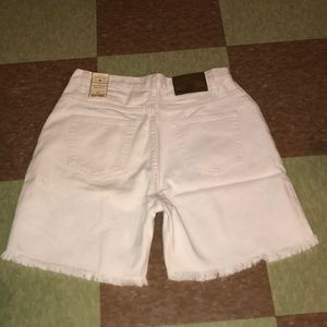 Vintage white cut off frayed shorts NWT 4